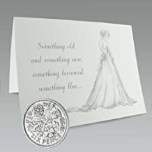 Authentic Sixpence Coin and Card for the Bride | Something Old, Something New, Something Borrowed, Something Blue, and a Sixpence for Her Shoe