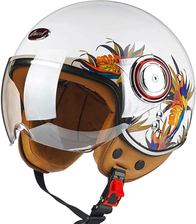 FFSH Unisex Open 3 4 Motorcycle 2021 Max 61% OFF Peacock L M Vintage XL Helmet