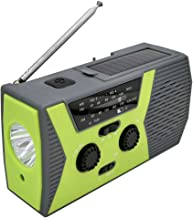 Titcch Emergency Hand Crank Radio, [Newest Upgraded Version] Solar Radio 2600mAh Power Bank Wind Up Radios with Phone Charger and 4 LED Reading Lamp, AM/FM/7 NOAA, 4 Power Methods