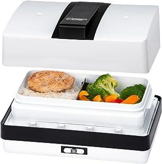 Cloer 800 MBX menybox ångkokare för uppvärmning av matskål 1,2 l, tablett och måttkopp uttagbar hållare rostfritt stål, ko...