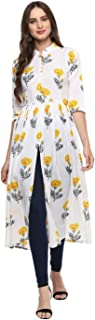 Indian Tunic Top Kurti For Women Printed Poly Rayon Long Dress