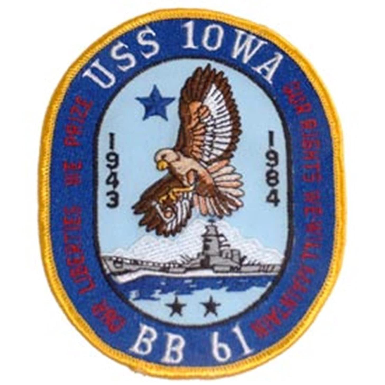 EagleEmblems PM5259 Patch-Uss,Iowa,BB-61 (3.5'')