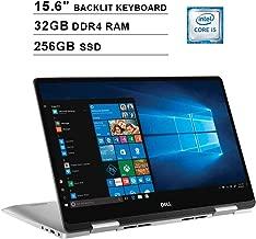 2019 Dell Inspiron 15 7586 2-in-1 15.6 Inch FHD Touchscreen Laptop(8th Gen Intel Quad Core i5-8265U up to 3.9 GHz, 32GB RAM, 256GB SSD, Intel UHD Graphics 620, Backlit Keyboard, Windows 10) (Renewed)