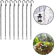 VintageBee 8 Pack 19.7 inch/ 50cm Black Hanging Chains Flower Pot Basket Bird Feeders,Planters, Lanterns and Ornaments Garden Plant Hangers