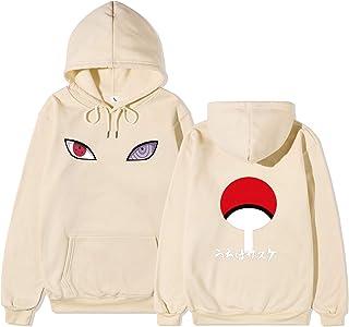LOOVEE Felpa Naruto, 3D Naruto Uchiha Sasuke Itachi Anime Cosplay Felpe con Cappuccio con Pocket Pullover Felpa Streetwear...