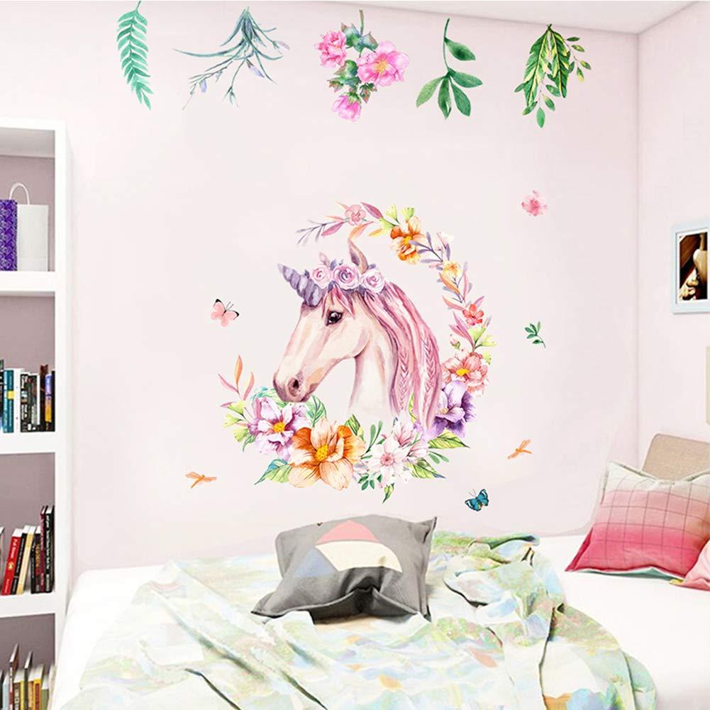 Unicorn Wall Art Decal Girls Bedroom Nursery Wall Decor