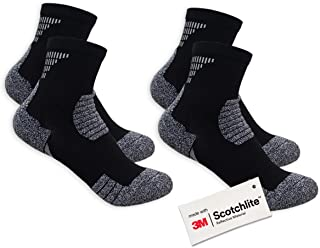 Salzmann 3M Reflective Sports Socks Made with 3M Scotchlite
