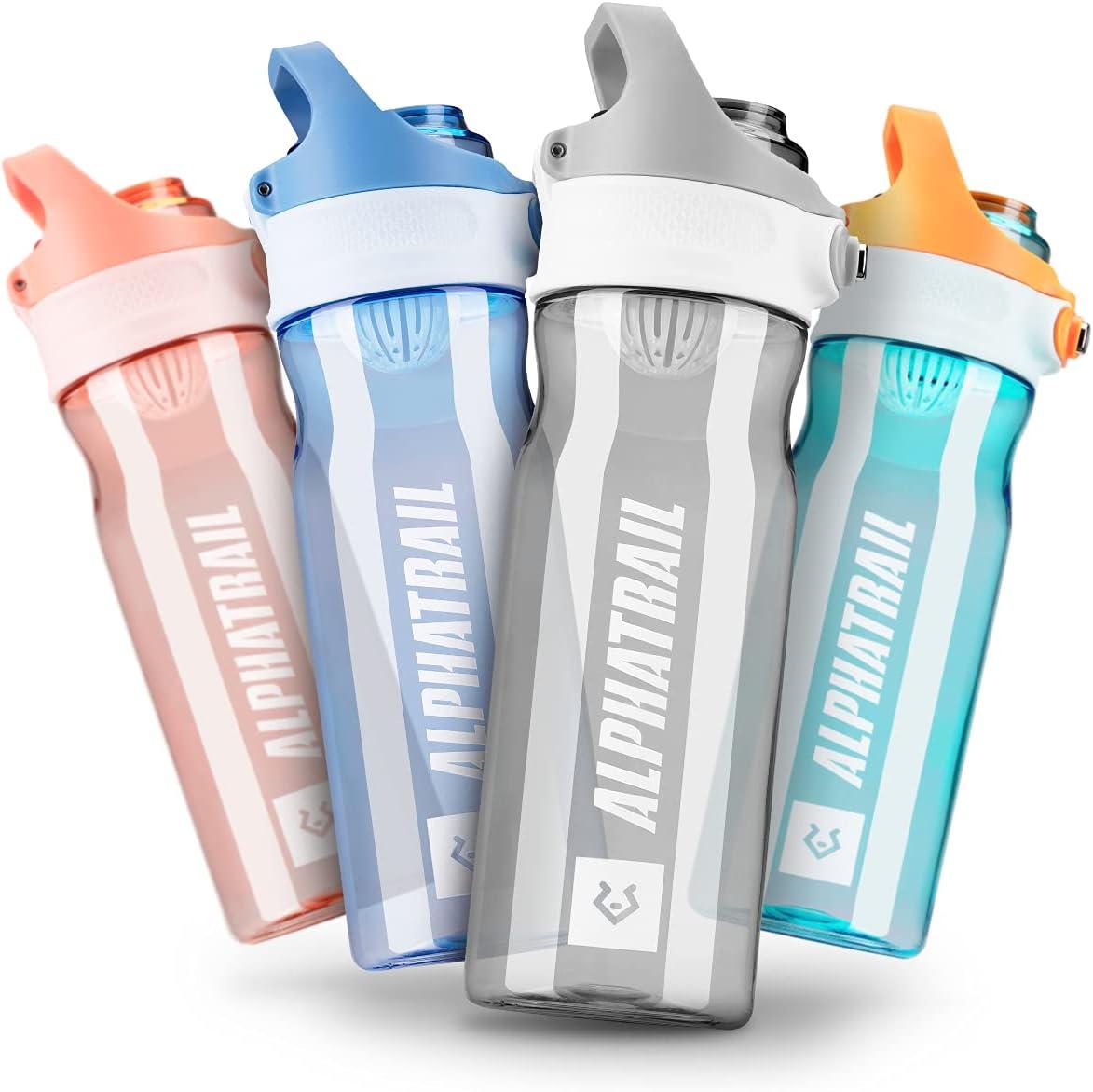 Alphatrail Botella Agua Tritan Jimmy 500ml I 100% Prueba de Fugas I sin BPA & Ecológicamente I Seguro Lavavajillas I Abertura para Beber Funcional para una óptima hidratación Durante el Deporte