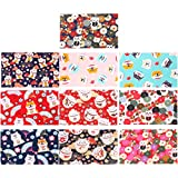 KESYOO 10pcs Fabric Sheets Cotton Quilting Sewing Fabrics Plum Blossom and Lucky Cat Pattern Japanese Style Fabric Patchwork Craft for Scrapbooking Sewing Quilting 20x25mm