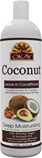 Okay Coconut Oil Deep Moisturizing Leave-In Conditioner | For All Hair Types & Textures | Replenish Moisture | With Shea B...
