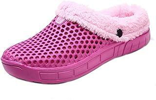 Men's Women Mules Clogs Slip on Winter Garden Warm Slippers Walking Sandals Flip Flops Shoes for Indoor Outdoor