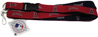Pro Specialties Group MLB Los Angeles Angels Two-Tone Lanyard, Red, One Size