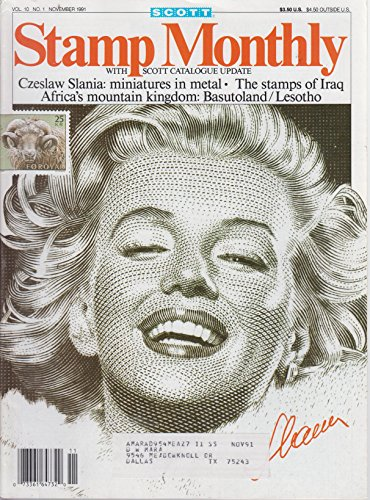 Stamp Monthly Magazine Marilyn Monroe cover (November 1991) Volume 10 No. 1