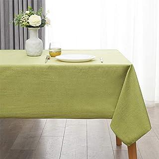 مفرش مائدة SINSSOWL مقاوم للماء - 58 × 58 بوصة - مفرش طاولة أخضر سهل التنظيف، بياضات المطبخ والطاولات للمنزل وغرفة الطعام ...