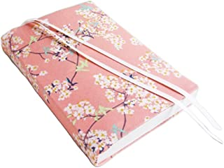 6 Inch Trade Paperback Book Cover 6x9 to 5.5x8.5, CHERRY BLOSSOMS Fabric Stretch Book Cover, Small Book Covers for Paperbacks or Hardcover Books and Journals