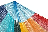 MacaMex Hängemattengestell, Mexikanische Netzhängematte Mehrpersonen Hängematte 3 Personen 250 kg, 410 x 250 x 150 cm, paradiso - 6