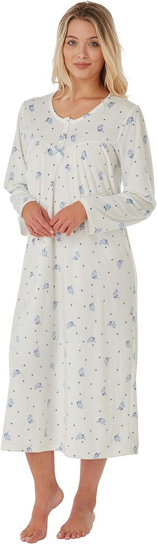 Marlon Ladies Long Sleeved Soft Fleece Nightdress