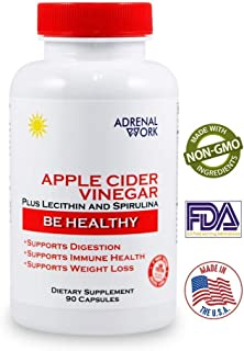 New, Maximum Absorption, Apple Cider Vinegar Capsules: The Apple Cider Vinegar Tablets to Improve Gut Health; Organic Metabolism Booster for Weight Loss; Non-GMO Apple Vinegar Pills for Men and Women
