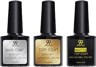 Mshing99 8ml Top Coat Matte Top Coat and Base Coat foundation gel Polish UV LED Nail Polish Semi Vernis Permanent Gel Varnish matte to (Base Coat + Top Coat + Matte Top Coat)