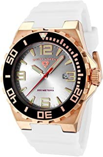 Swiss Legend Expedition For Men Silver Dial Silicone Band Watch - SL-10008-RG-02S-BB