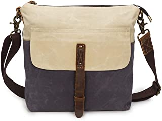 Mens Bag Color:Gray Simple Retro Zipper Waterproof Canvas Shoulder Bag Messenger Bag High capacity