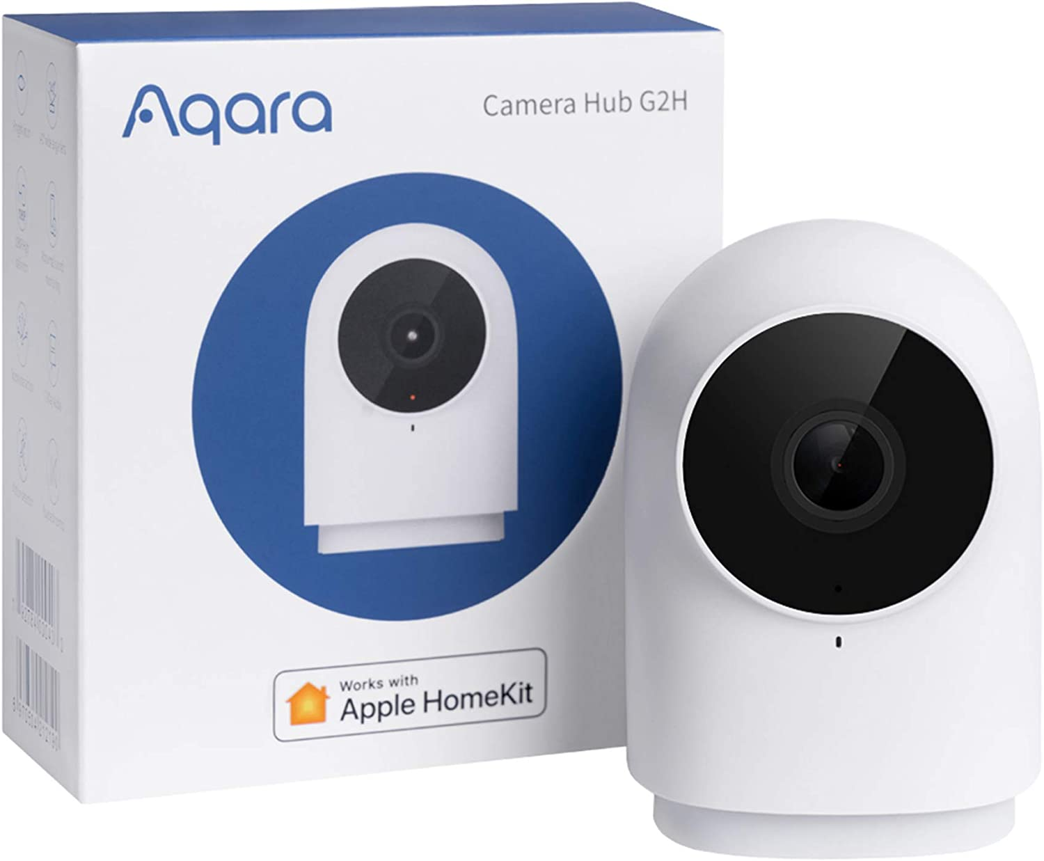 Aqara Security Camera, HomeKit Secure Video Indoor Camera, Night Vision, Two-Way Audio, 1080P HD Plug-in Indoor Cam, Security Home Camera, Smart Home Bridge for Alarm System, Works with IFTTT