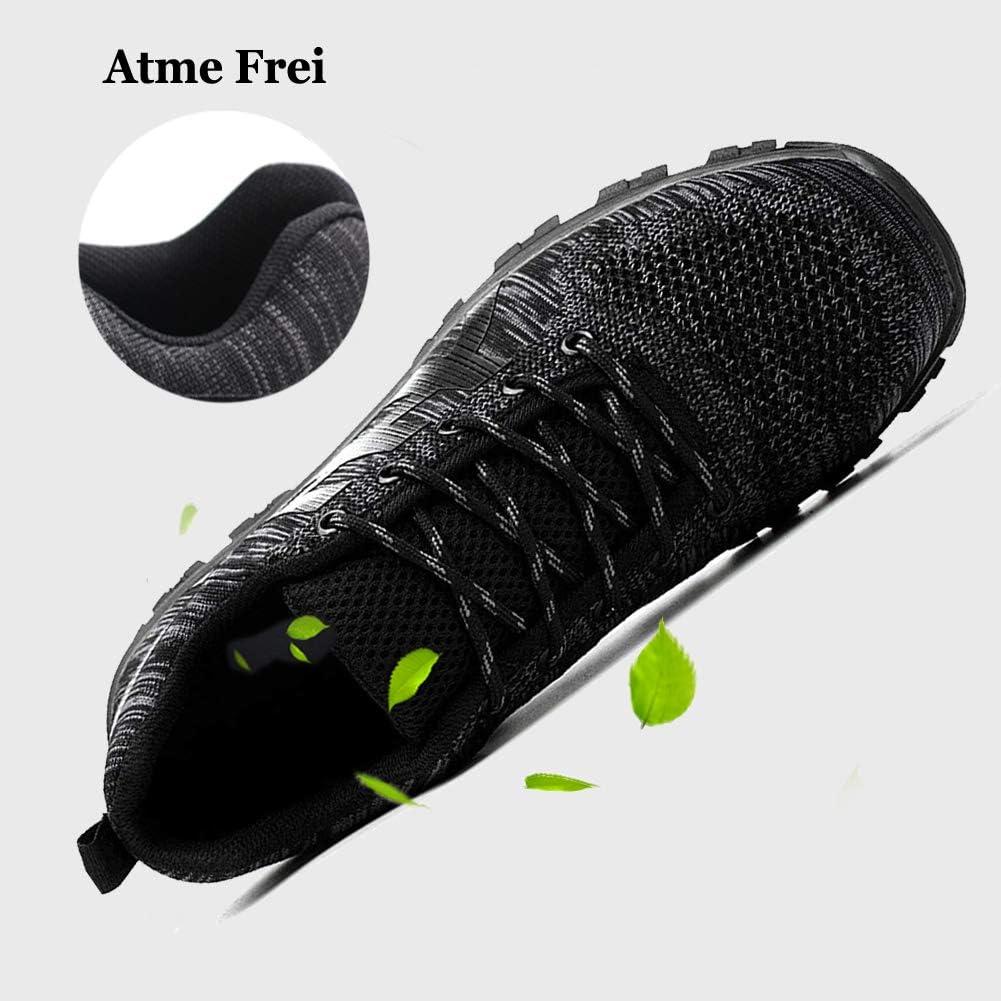 Zapatos de Seguridad para Hombre Mujer con Puntera de Acero Zapatillas de Seguridad Trabajo Calzado de Industrial y Deportiva