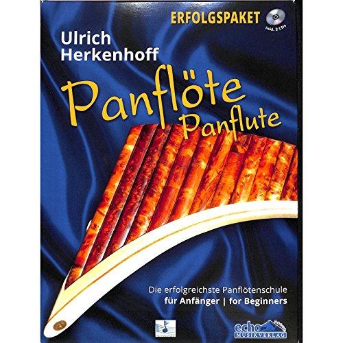 Panflötenschule: Panflöte Erfolgspaket mit Lehrbuch 1 Anfänger, Spielstücke, CD und Lern-DVD