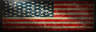 Nostalgia Decals American Flag Version 1 Full Size Rear Truck Window Graphic
