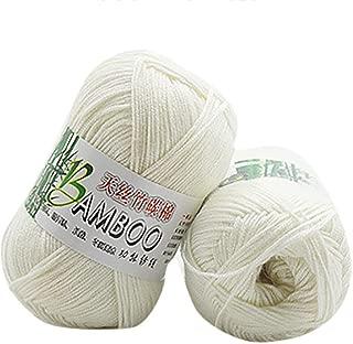 Cotton Crochet Thread ,Vanvler Diy Knitting Wool Yarn ❤️ New Bamboo Warm Soft Natural 50g (D)