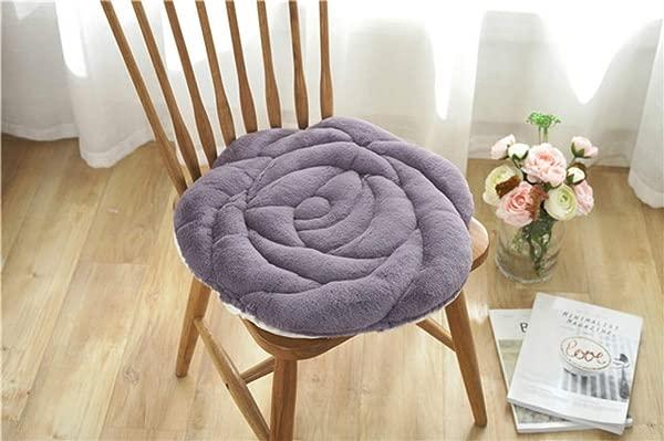 华森花朵造型座垫玫瑰地板坐垫办公室椅垫汽车灰色座垫