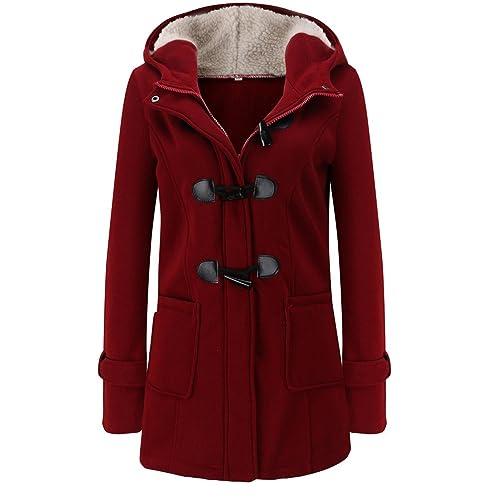 WanYang Donna Cappotto di Lana Blended Giacca Invernale Casual Maniche  Lunghe Maglione Cappotto Camicia dc3d053658c1