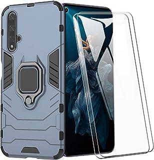 XIFAN Funda para Huawei Nova 5T / Honor 20s, [Robusto] Anillo Metálico Soporte [Funciona con El Montaje De Coche Magnético...
