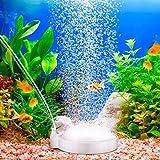 Zwini Difusor de oxígeno ultra silencioso para acuario, bomba de tanque de peces de acuario, disolución profunda, disco de piedra perfecto para guppy, camarones, especies exóticas