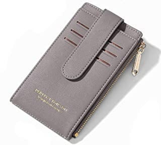 Cyanb Slim Zipper Card Cases Holder,RFID Blocking Credit Card Wallet Minimalist Front Pocket for Women Girl