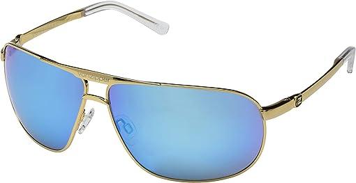 Gold Gloss/Blue Chrome
