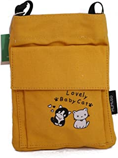 MUMUSO CANVAS CELL PHONE PURSE (YELLOW)/6941347740652