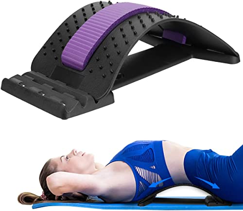 Back Stretcher Device Adjustable for Lumbar Pain Relief, HONGJING Back Massager for Lower & Upper Muscle Relaxation, ...