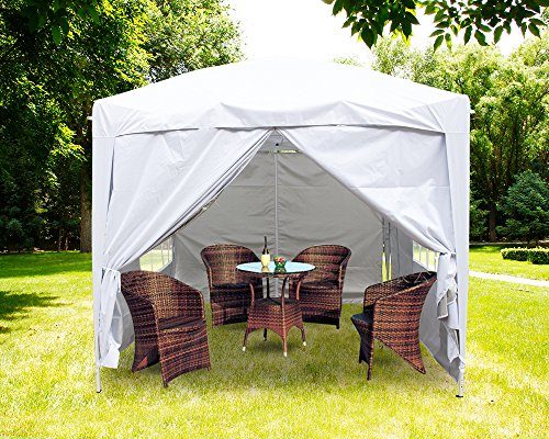Greenbay Premium White Pop-up Gazebo with Silver Protective Layer + 4 Leg Weight Bags + Carrying Bag 2x2M