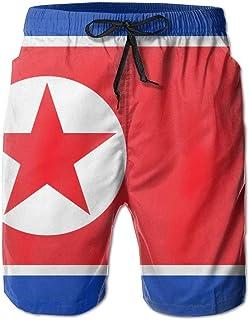 sport outdoor 003 North Korea Large Flag Boardshorts Beach Shorts Pants Swim Trunks Men Swimsuit