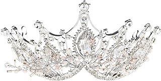 LUCKYYY Accessori del Vestito dal Vestito dai Capelli della Corona di Nozze della Sposa per la Festa Nuziale
