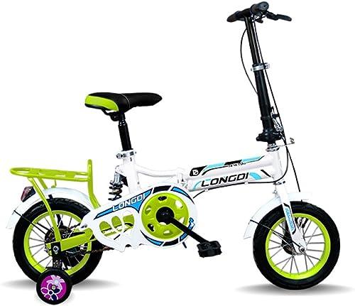 ventas en linea Guo shop- Bicicleta de plegado de Niño 3-6-8 3-6-8 3-6-8 años de cochecito de bebé de 12 pulgadas de 16 pulgadas de bicicleta bicicletas para Niños ( Color   verde , Tamaño   16inch )  mejor opcion