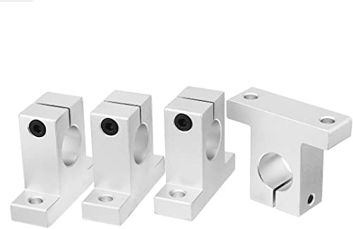 uxcell 4pcs SK20 Aluminum Linear Motion Rail Clamping Guide Support for 20mm Dia Shaft