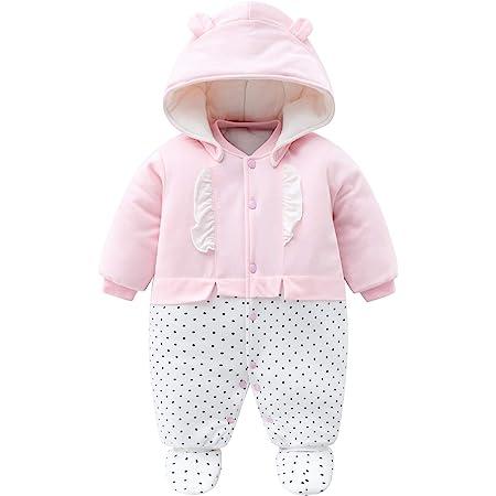 iFCOW Baby Kapuzenstrick Strampler Winter Warm Outfits S/äugling Kid Kleinkind Kapuze Gestrickt Overall Kleinkind Overalls Einteilige Kn/öpfe Bodysuit