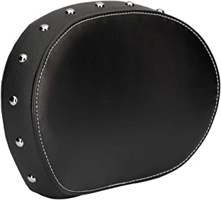 Genuine Indian Motorcycle Leather Passenger Backrest Pad - Black With Studs