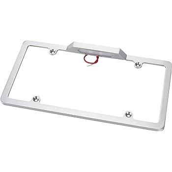 Billet Aluminum License Plate Holder w/Light
