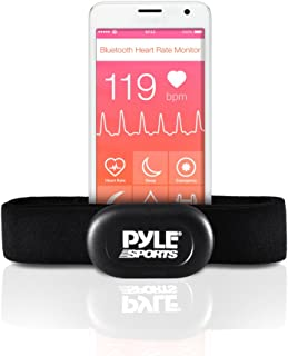 Pyle Bluetooth Smart Heart Rate Sensor for iPhone and Android Phones, Works with Polar ALA Coach & MotiFit Strava Apps Bluetooth LE Sensor
