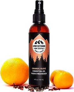 Natural Air Freshener - Orange Clove - Essential Oil Odor Eliminating Room Spray