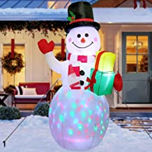 AerWo 5ft Christmas Inflatables Blow Up Yard Decorations, Snowman Xmas Inflatable with Rotating LED Lights for Indoor Outd...