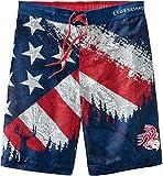 Legendary Whitetails Men's Lakeside Swim Trunks, Americana Camo, Medium